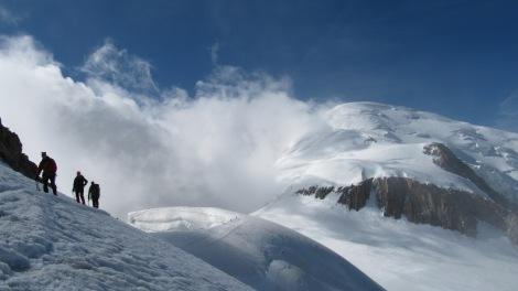 Sur la traversée du Mont Blanc / Voie Royale.