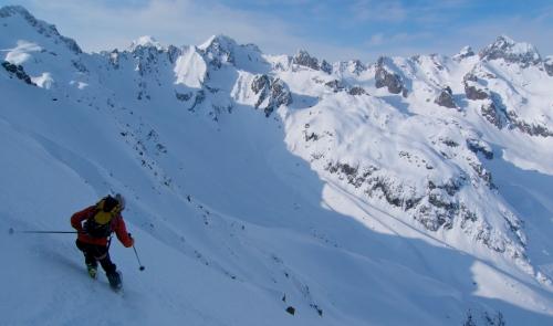 Face Nord de la Cime du Sambuis, Belledonnes. Stage Aspi 2